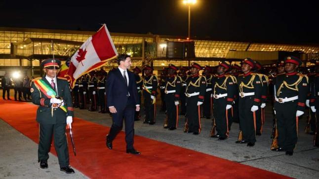 Justin Trudeau a quitté le canada pour Addis-Abeba