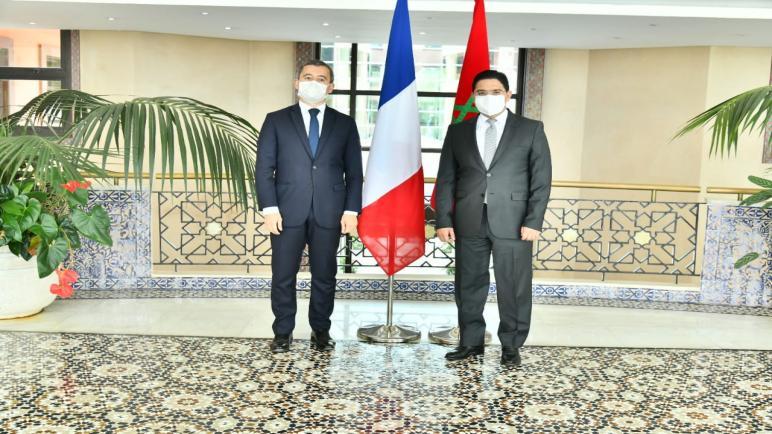 Entretien de M. Bourita avec le Ministre français de l'Intérieur