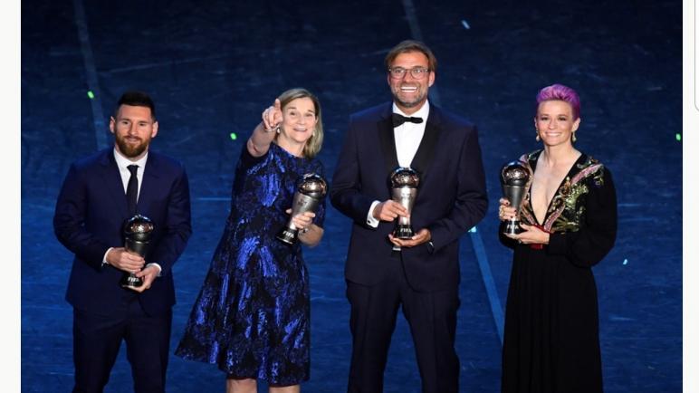 Rapinoe et Messi sont élus les joueurs de l'année