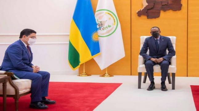 RWANDA: M. NASSER BOURITA REÇU EN AUDIENCE PAR LE PRÉSIDENT PAUL KAGAME