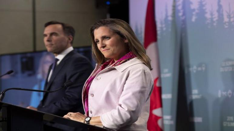 Chrystia Freeland va remplacer Bill Morneau aux Finances